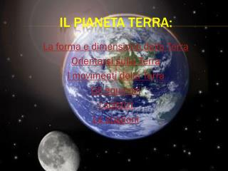 Il pianeta Terra: