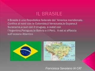 Il Brasile è una Repubblica federale del 'America meridionale.