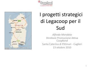 I progetti strategici di  Legacoop  per il Sud