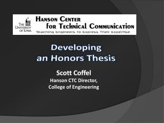 Developing  an Honors Thesis