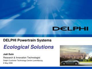 DELPHI Powertrain Systems