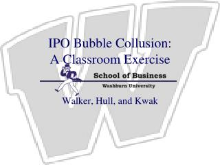 IPO Bubble Collusion: A Classroom Exercise