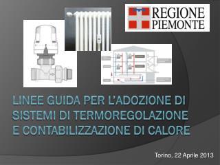 Linee guida per l'adozione di sistemi di termoregolazione e contabilizzazione di calore