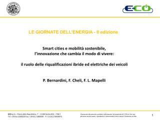 LE GIORNATE DELL'ENERGIA - II edizione