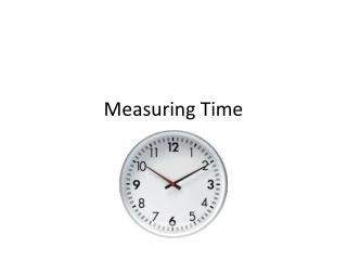 Measuring Time