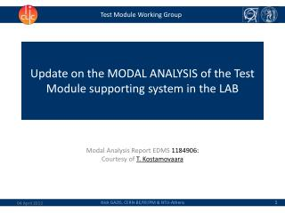 Test Module Working Group