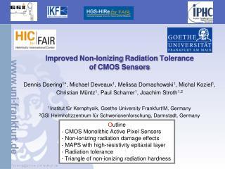 Improved  Non- Ionizing  Radiation  Tolerance of  CMOS Sensors