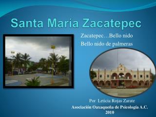 Santa María Zacatepec