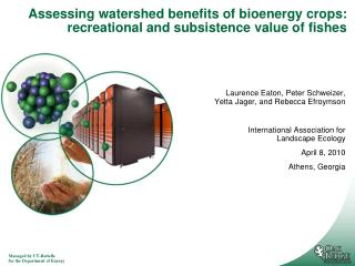 Assessing watershed benefits of bioenergy crops: recreational and subsistence value of fishes