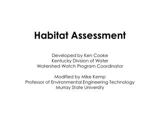 Habitat for whom?