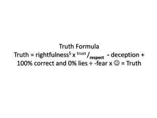 Truth Formula