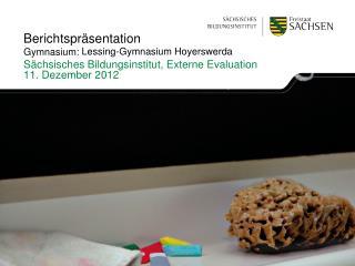 Berichtspräsentation  Gymnasium: