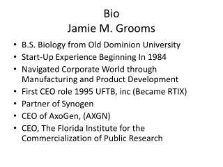 Bio Jamie M. Grooms
