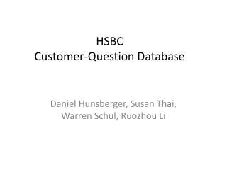 HSBC Customer-Question Database