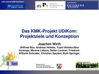 Das KMK-Projekt UDiKom: Projektziele und Konzeption