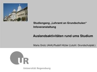 """Studiengang """"Lehramt an Grundschulen"""" Infoveranstaltung"""