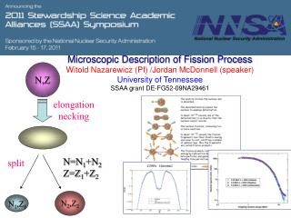 Microscopic Description of Fission Process Witold  Nazarewicz (PI) / Jordan  McDonnell (speaker)