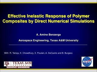 Effective Inelastic Response of Polymer Composites by Direct Numerical Simulations