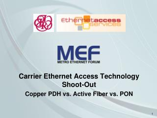 Carrier Ethernet Access Technology Shoot-Out Copper PDH vs. Active Fiber vs. PON