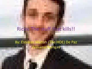 Ricin: The stuff that kills!!