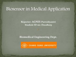 Biosensor in Medical Application