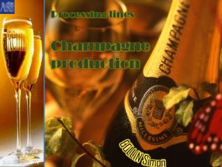 Processing lines Champagne p roduction
