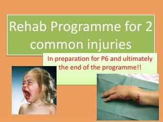 Rehab Programme for 2 common injuries
