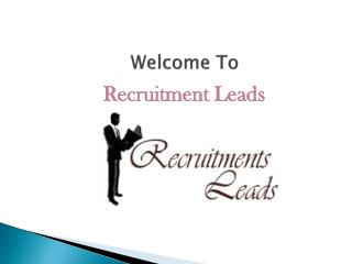 Recruitment Leads