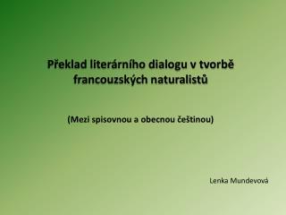 Lenka  Mundevová