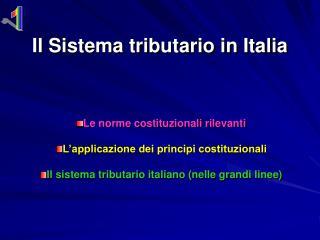 Il Sistema tributario in Italia