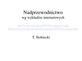 Nadprzewodnictwo wg wyklad w internetowych  if.uj.pl