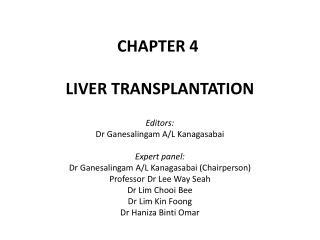 CHAPTER 4 LIVER TRANSPLANTATION