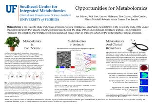 Opportunities for Metabolomics