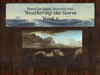Bound for South Australia 1836 Weathering the Storm  Week 6