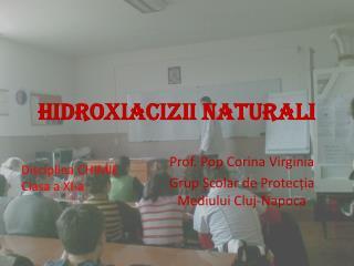 HIDROXIACIZII NATURALI