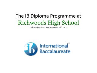 What is the IB Diploma Programme?