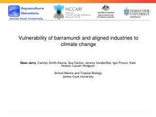 Vulnerability of barramundi and aligned industries to climate change