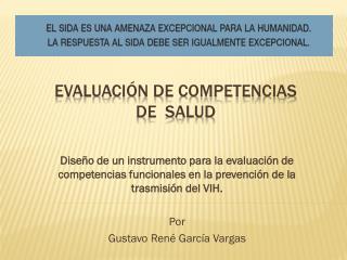 Evaluación de competencias de  salud
