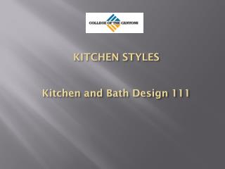 KITCHEN STYLES Kitchen and Bath Design 111