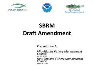 SBRM  Draft Amendment