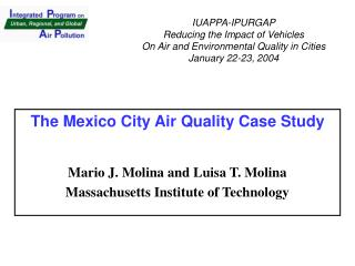 The Mexico City Air Quality Case Study