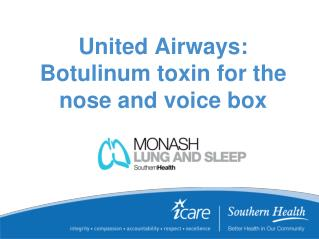 United Airways: Botulinum toxin for the nose and voice box