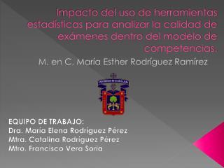 M. en C. María Esther Rodríguez Ramírez