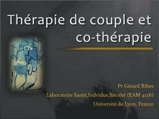 Th�rapie de couple et   co -th�rapie