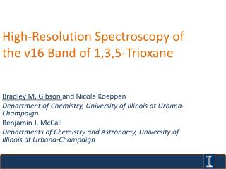 High-Resolution Spectroscopy of the  ν 16 Band of 1,3,5-Trioxane