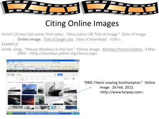 Citing Online Images