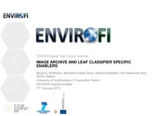 Image  archive and leaf classifier  SPECIFIC ENABLERS