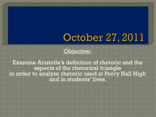 October 27, 2011