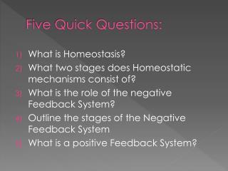 Five Quick Questions:
