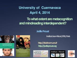 University  of   Cuernavaca April 4, 2014